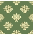 Foliate pattern with seamless baroque ornament vector image vector image