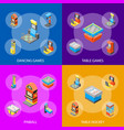 game machine 3d banner set isometric view vector image