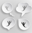 Ghost White flat buttons on gray background vector image
