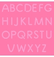 Girlish Letters ABC Font Isolated On Pink vector image vector image