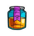 glass jar sweet honey from new shop market vector image