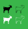 goat icon black and white color set vector image vector image