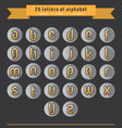 gold letter icon set vector image vector image