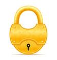 golden vintage lock stock vector image vector image