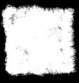 grunge border in black and white vector image vector image