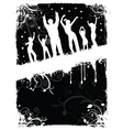 grunge party people vector image vector image