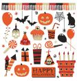 halloween party elements vector image vector image