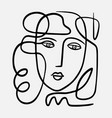 hand drawn abstract face vector image