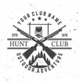 hunting club concept for shirt print vector image vector image
