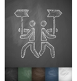 In different directions icon Hand drawn vector image vector image