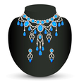 jewelry female necklace vector image vector image