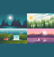 landscape backgrounds travel and adventure vector image vector image