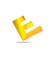 letter e logo design template vector image