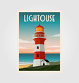 lighthouse background template poster design vector image vector image