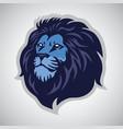 lion head logo sports mascot template icon vector image vector image