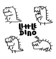 little dino set vector image vector image