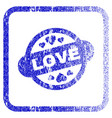 Love stamp seal framed textured icon vector image