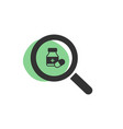 magnifying glass looking for a medicine isolated vector image
