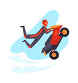 motorcyclist jumps isolated on vector image vector image