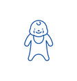 newborn line icon concept newborn flat vector image