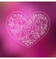 Ornamental Heart Love vector image
