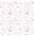 Outline Floral Pattern vector image