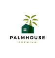 palm house logo icon vector image