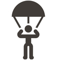 parachute sport icon vector image
