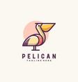 pelican design template vector image vector image