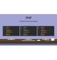 PHP programming language code vector image vector image