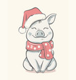 pig symbol 2019 new year vector image vector image