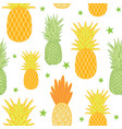 pineapples and stars background seamless vector image vector image
