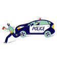 police man character pursuit pickpocket thief vector image