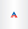red blue letter a triangle logotype symbol vector image vector image