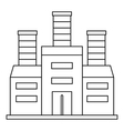 Refinery icon outline style vector image vector image