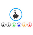 ripple piggy bank rounded icon vector image vector image