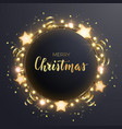 round christmas design with light bulb garland vector image vector image