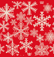 seamless pattern of snowflakes of different vector image vector image