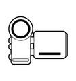 sketch silhouette image digital video camera vector image