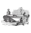 Spinneret machine vintage engraving vector image vector image