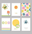 spring flowers greeting cards vector image