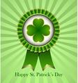 St Patricks Day Rosette Ribbon vector image vector image