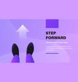 step forward vector image