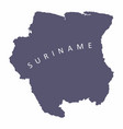 suriname silhouette map vector image vector image