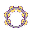 tambourine musical instrument icon vector image vector image