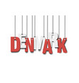 the word denmark hang on the ropes vector image