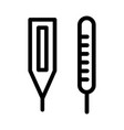 thermometer medical outline icon vector image