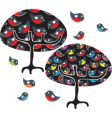 tree with birds on vector image