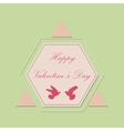 Valentines day and Wedding Set Vintage romantic vector image vector image