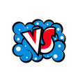 versus letters logo in cartoon style vector image vector image